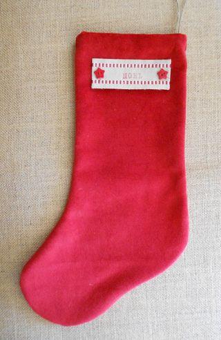Velveteen Christmas stocking (520x800)