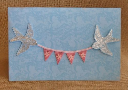 Birds and banner card (800x563)