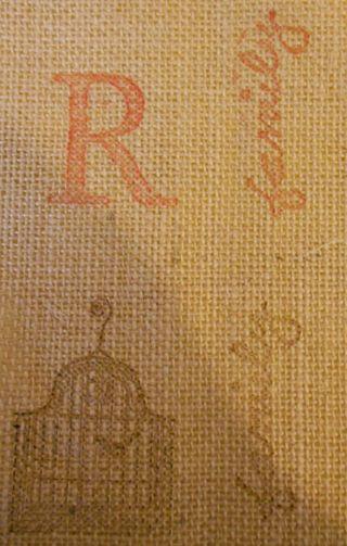 Stamping on burlap (509x800)