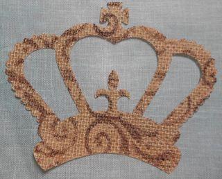 Burlap crown