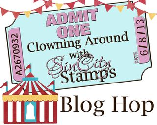 Sin City Stamps Blog Hop Logo