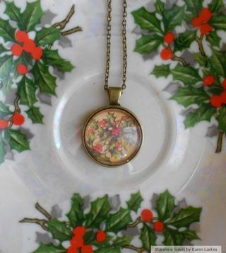 Holly Pendant by Karen Lackey