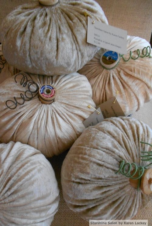 Velvet pumpkins neutral shades (2)