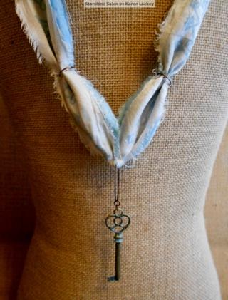 Silk Sari Ribbon Necklace by Karen Lackey 2