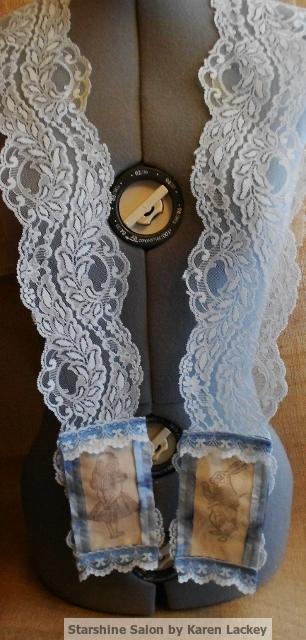 Alice in Wonderland scarf by Karen Lackey