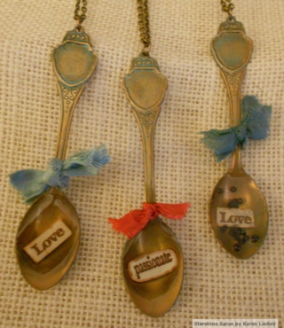 Spoon pendants by Karen Lackey