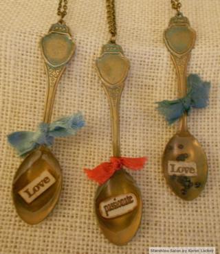 Spoon pendants by Karen Lackey