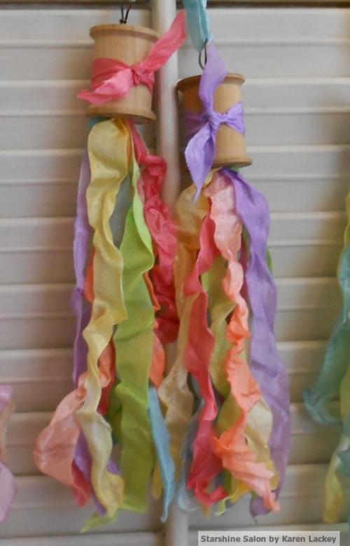 Seam binding tassels rainbow 2