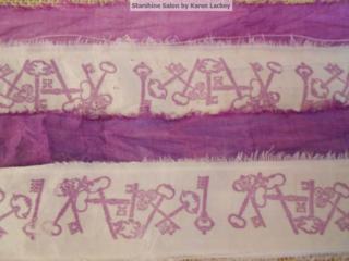 Stamped silk sari ribbon