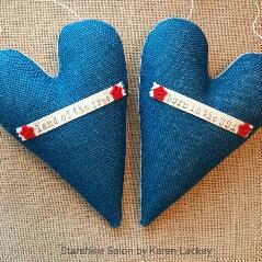 Americana Hearts by Karen Lackey